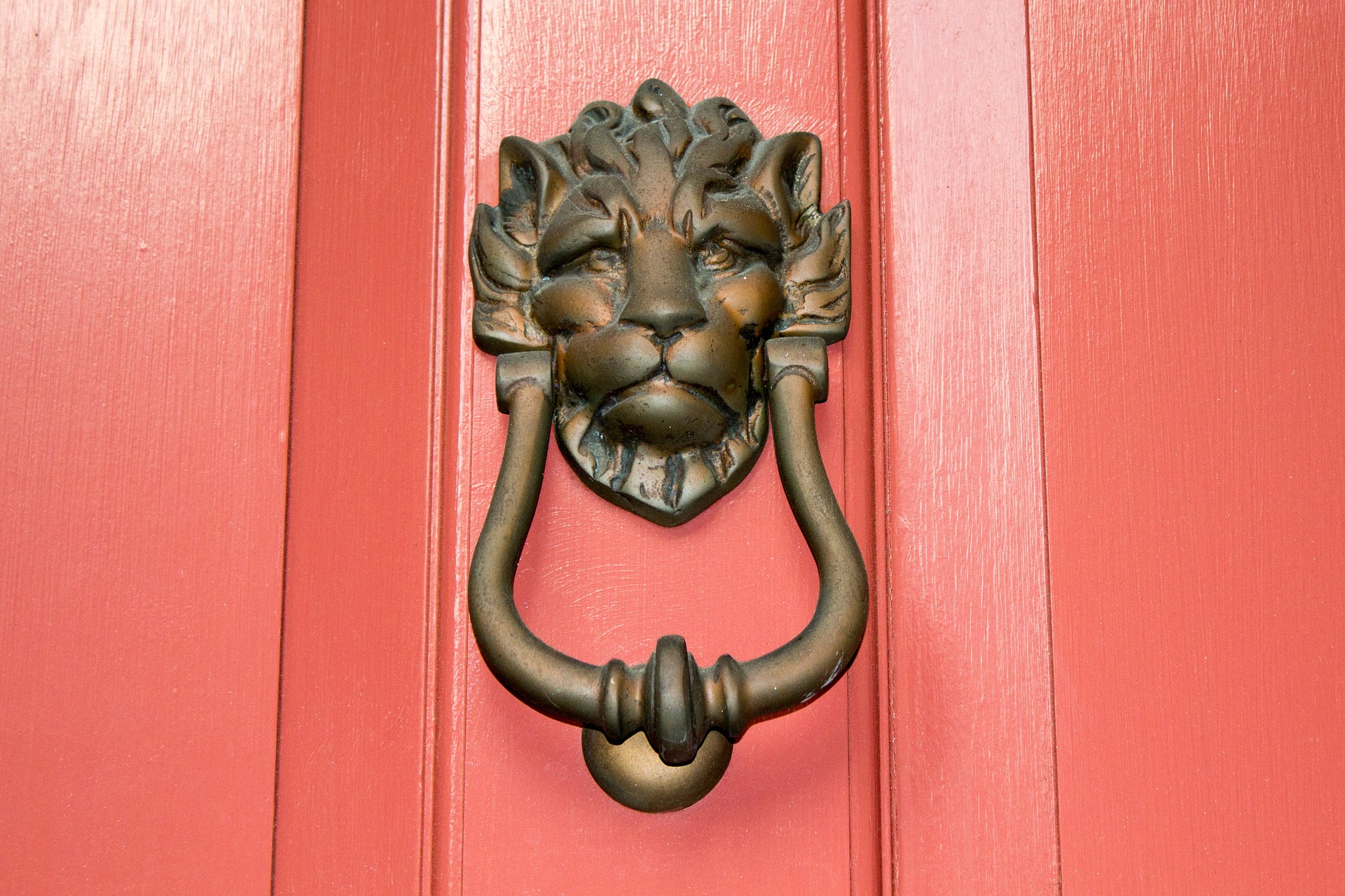 Add a door knocker to the front door